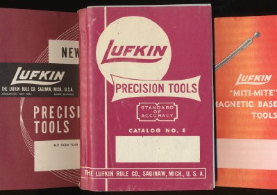 Lot Of Vintage 1950s Lufkin Tool Catalogs